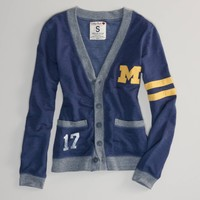 Michigan Vintage Varsity Cardigan   American Eagle Outfitters