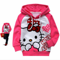 Hello Kitty clothes hoodies kids 2-10 Age Girl