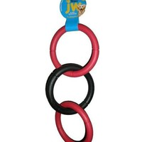 JW Pet Invincible Chains Triple Rings Dog Toy Sz: Large