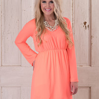 A Bold Statement Dress - Neon Coral