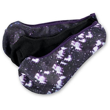 Empyre 3 Pack OMG Galaxy Print No Show Socks