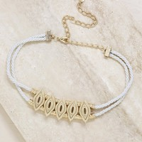 Vintage Vibin' Choker in Cream and Gold