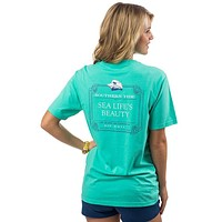 Sea Life's Beauty Pocket Tee Shirt in Seaglass by Southern Tide