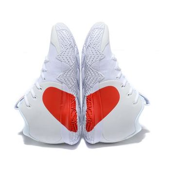 Nike Kyrie 4 EP White/Red Heart Sneaker Shoe