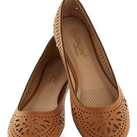 ModCloth Boho Haute of Doors Flat in Clay