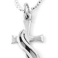Bob Siemon Sterling Silver Wrapped Cross Pendant Necklace, 18""