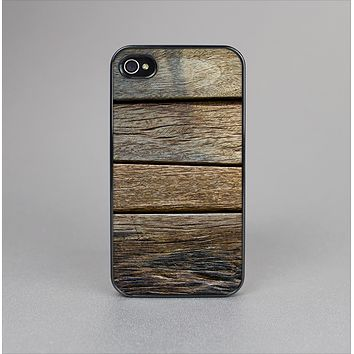 The Uneven Dark Wooden Planks Skin-Sert Case for the Apple iPhone 4-4s