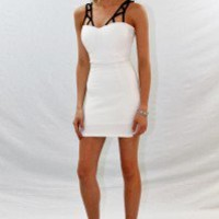 Fitted Dress with Designer Straps - Always a Runway Clothing