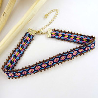 Gorgeous Tribal Beaded Choker Necklace