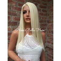 "Kennedy Light Blond Front Lace Wig 18"" Heat Ok 1101"