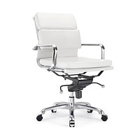 Century White Padded Modern Classic Aluminum Office Chair (Set of 2)
