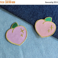 ON SALE Sparkle Peach Patch - 2 Colors Available Light Orange and Light Pink