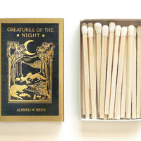 Creatures of the Night Matchbox - Starry Night Party Favor - Camping Gift - Survival Gear - Outdoor Barbecue - Light an Adventurous Spark