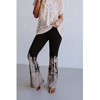 Cher Printed Flare Pants - Black