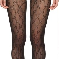 ❤shosouvenir❤ Gucci Black Stockings