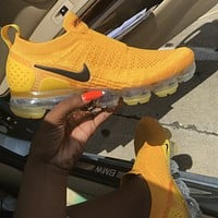 Nike Women's Vapormax Moc 2 University Gold Sneakers Shoes