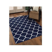 Mainstays Sheridan Area Rug 20In X 34In Navy/White