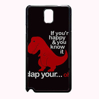 very happy dinosaur fa14340c-9169-4519-8470-423e89e6c9fc FOR SAMSUNG GALAXY NOTE 3 CASE**AP*