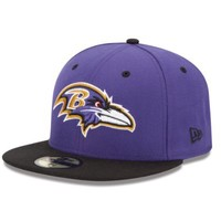 NFL Baltimore Ravens Two Tone 59Fifty Fitted Cap, Purple/Black, 6 7/8
