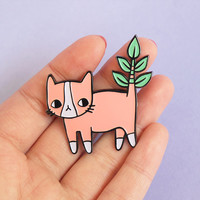 Plant Kitty Soft Enamel Pin