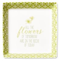 """5"""" Flowers of Tomorrow Quote Tray, Decorative Trays"""