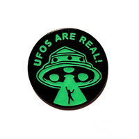 UFOs Are Real! Lapel Pin (Glow-in-the-Dark)