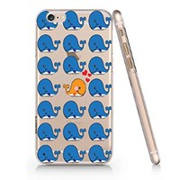 Make Different_whale Pattern Transparent Plastic Phone Case for Iphone 6