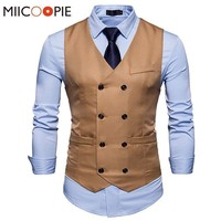 Men's Suit Vest - Slim Fit Men's Suit Vest - Double Breasted Waistcoat