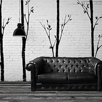 Vinyl Wall Decal Sticker Bedroom LARGE TREES beautiful interior trunks forest r1555