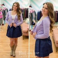 Lavender Button Cardigan