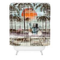 Belle13 Alice Goes To California Shower Curtain