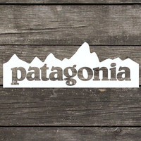 """Patagonia Inspired Mountain Decal made of Premium Indoor/Outdoor Vinyl Perfect for Car Windows or any Smooth Hard Surface 5""""x 1.75"""""""