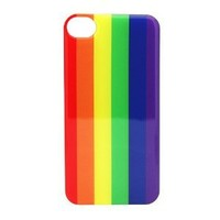 Amazon.com: Rainbow Gay Pride no hate - iPhone 4 4S Snap On Case Clear Plastic bllboard tv lesbian: Cell Phones & Accessories