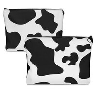 Cow Print O-Zip Pouch