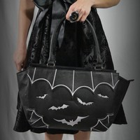 Gothic Witch Gotham Knight Bats Attack Handbag