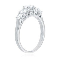 Ladies 925 Sterling Silver 5 Stone Promise Ring