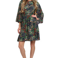 Sapphire Garden Print Bauery Dress in Floral: Buy Alice + Olivia at CoutureCandy.com