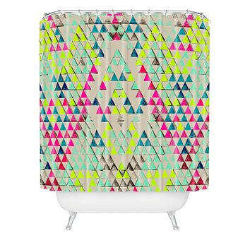 Pattern State Triangle Summer Shower Curtain