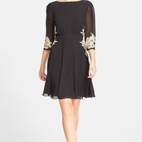 Women's Ted Baker London 'Gaenor' Embroidered Fit & Flare Dress,
