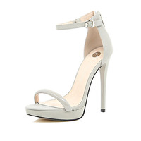 River Island Womens Grey barely there platform sandals