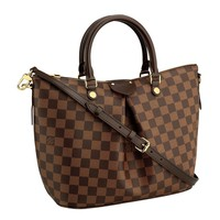 Louis Vuitton Damier Canvas Siena PM Crossbody Shoulder Handbag N41545 Made in France