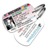 Wisconsin Driver's License Pet Tag