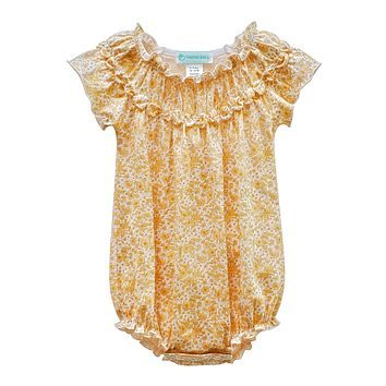 Ruched Bubble Romper by Feather Baby