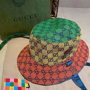 GUCCI GG men's and women's double G letter fisherman hat