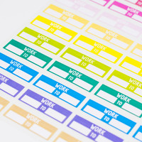 44 Colorful Work Planner Stickers