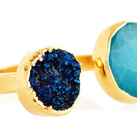 Teal Jade & Midnight Blue Drusy Vi Ring, Stone & Novelty Rings
