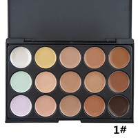 15 Color Professional Concealer (Assorted Colors) Contour & Highlighting Beauty Cosmetic Makeup Kit