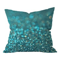 Everything Sparkles in Blue Throw Pillow