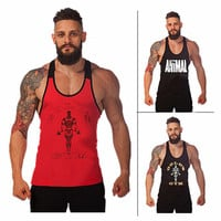 New Arrival Gym Shark Men's LoudMouth Stringer Tank Tops, Gymshark Bodybuilding and Fitness Singlets Sports Muscle Shirt Clothes