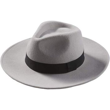 Blaire | Grey Wool Panama Hat